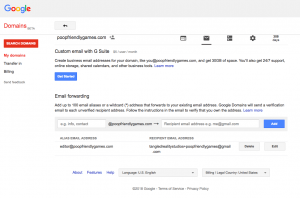 Google Domains Email Forwarding